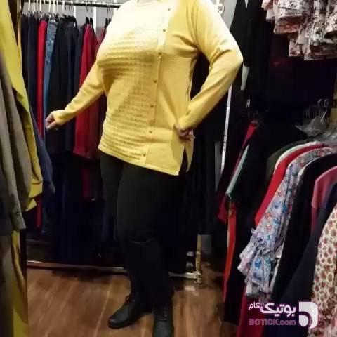 تونیک درسا زرد سایز بزرگ زنانه