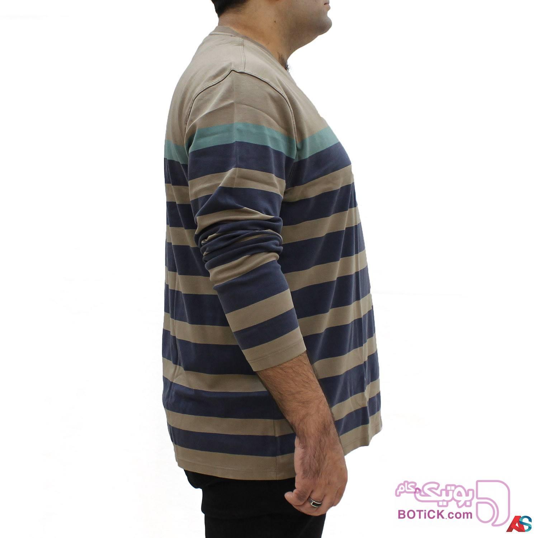 تیشرت آستین بلندکد محصول BOBt1015 طلایی سایز بزرگ مردانه