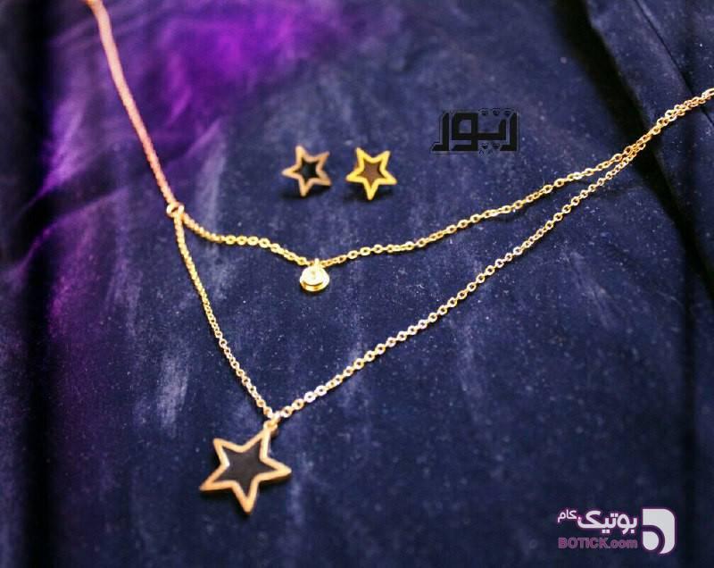 نیم ست ستاره زرد ست زیورالات