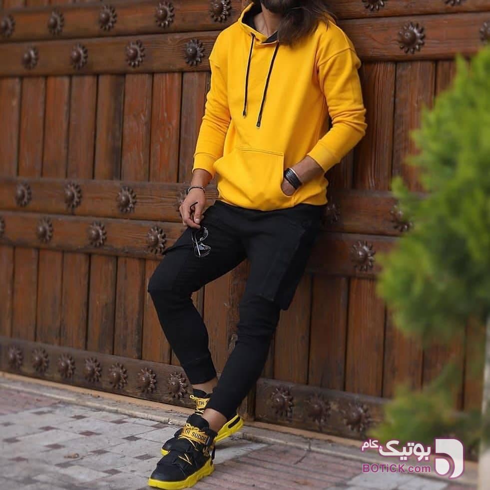 هودی زرد زرد سوئیشرت و هودی مردانه