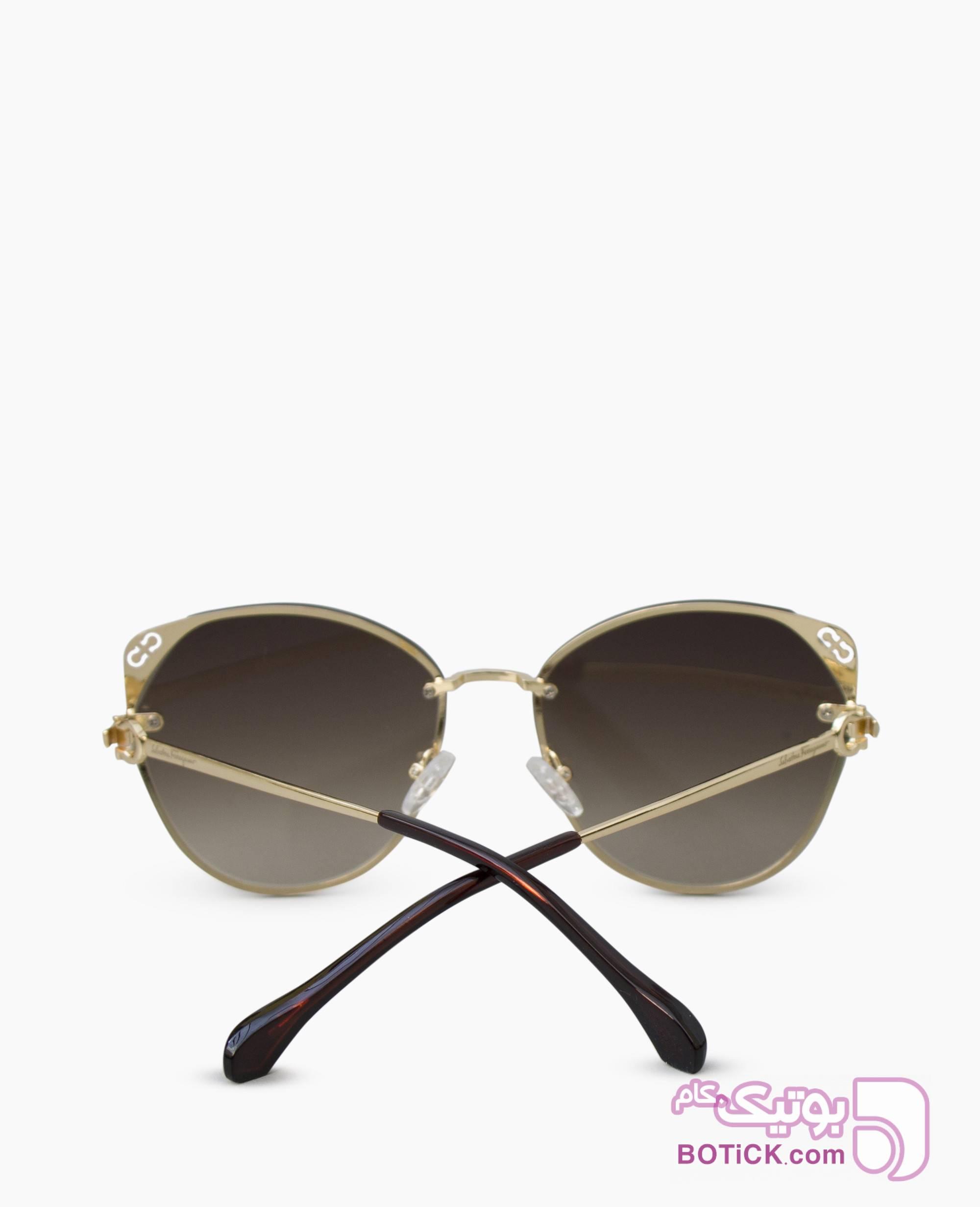 عینک آفتابی SALVATORE FERRAGAMO کد 8120 طلایی عینک آفتابی