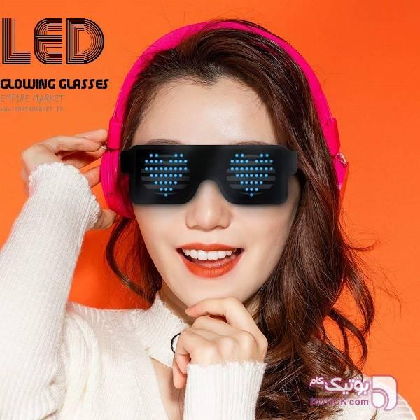 عینک LED نوری هوشمند SL-003 (فانتزی) مشکی عینک آفتابی