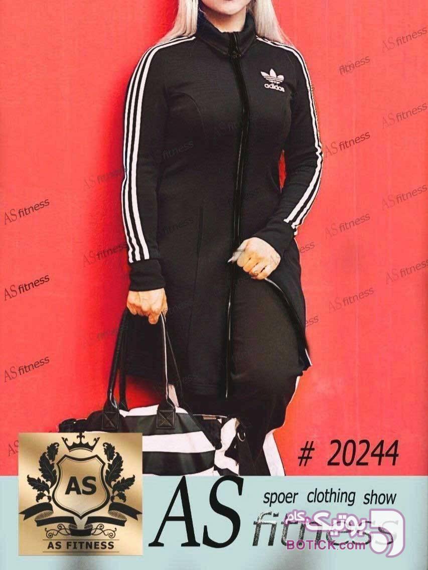 مانتوتک AS fitness کد :20244 مشکی مانتو