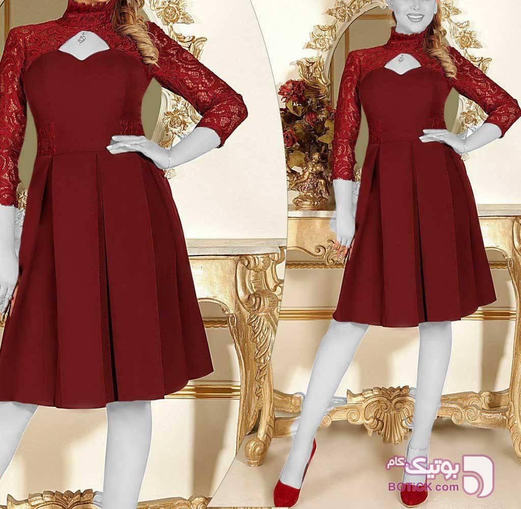 مدل دخترانه شیک وزیبا قرمز پيراهن و سارافون زنانه