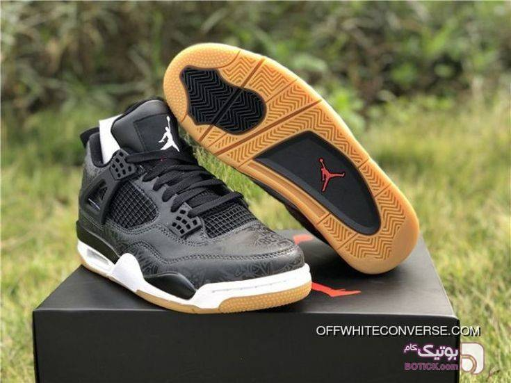 Nike Jordan 4 Travis Scott نایک جردن ۴  مشکی كتانی مردانه