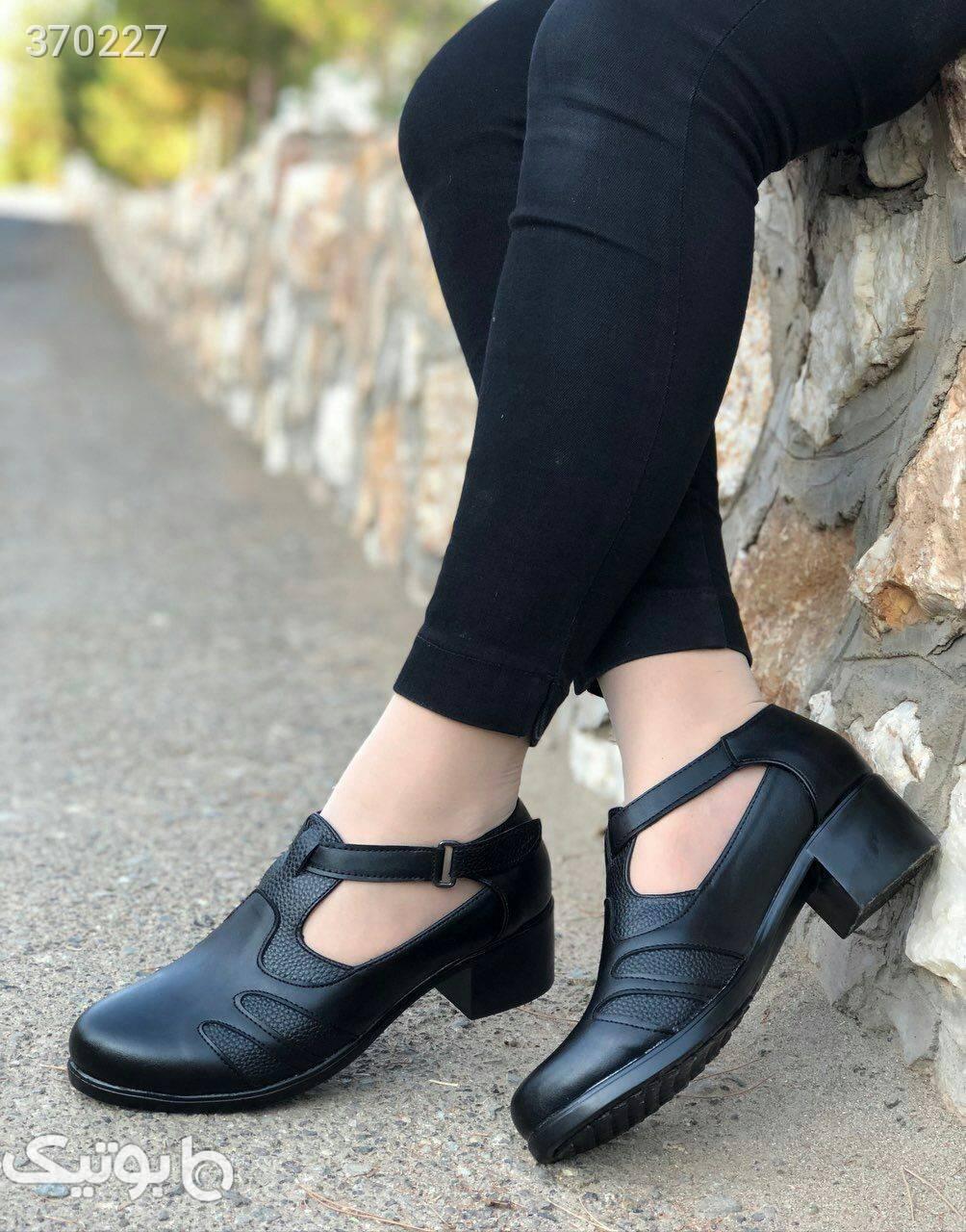 کفش طبی چرم صنعتی کیفیت فوق العاده مشکی كفش زنانه