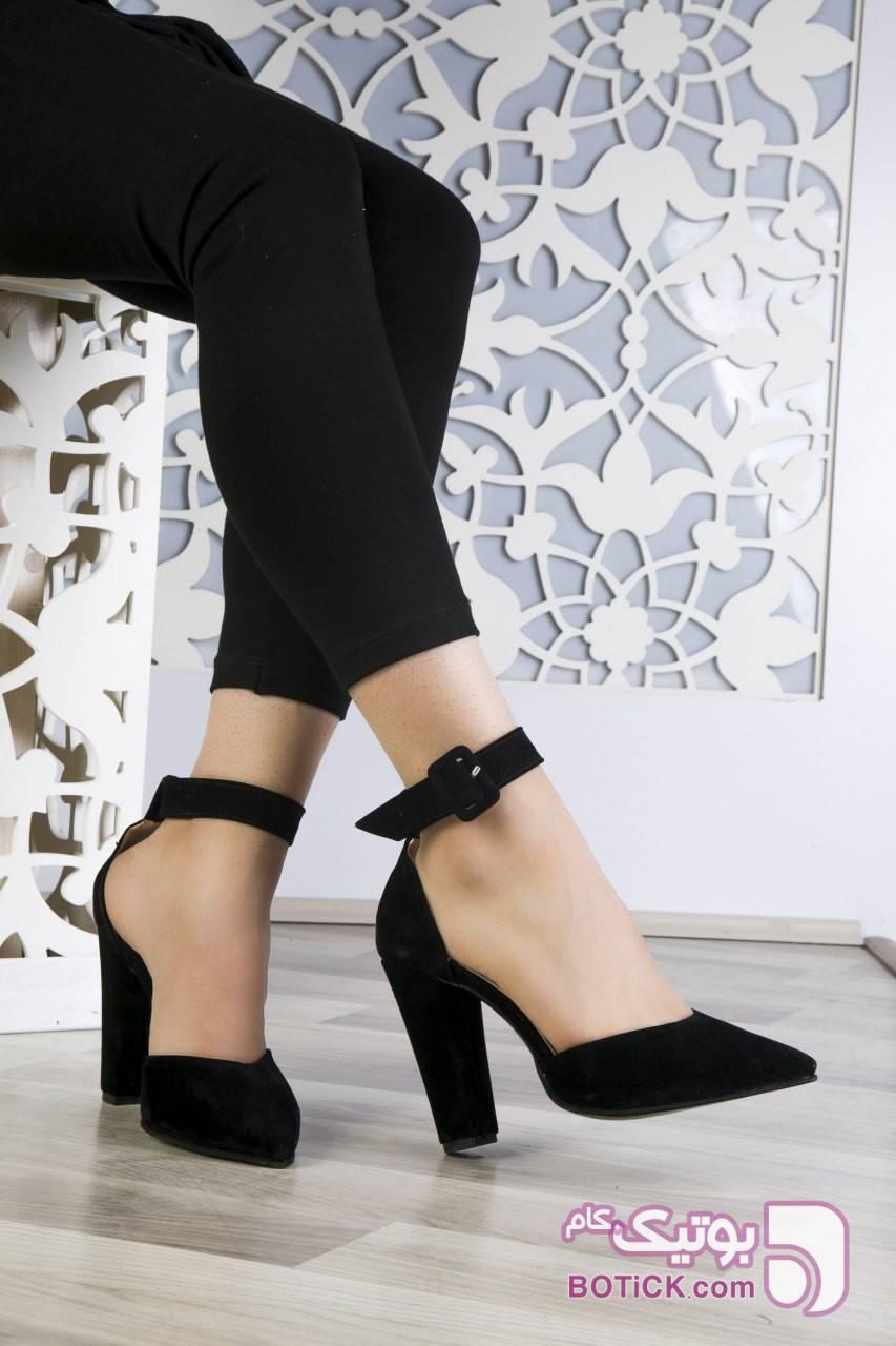 کفش مجلسی پاشنه دار کد۷۴۷ مشکی كفش زنانه