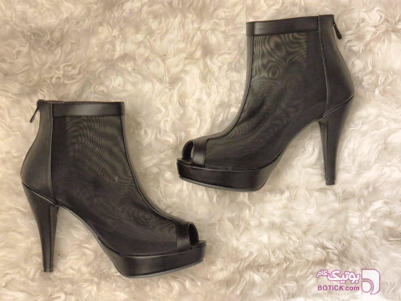 کفش مدل:پاشنه۱۰سانت پشت زیپ مشکی كفش زنانه