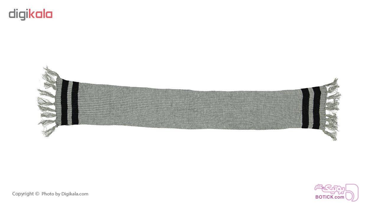 شال گردن بافتنی مدل HG768 طوسی کلاه بافت و شال گردن و دستکش