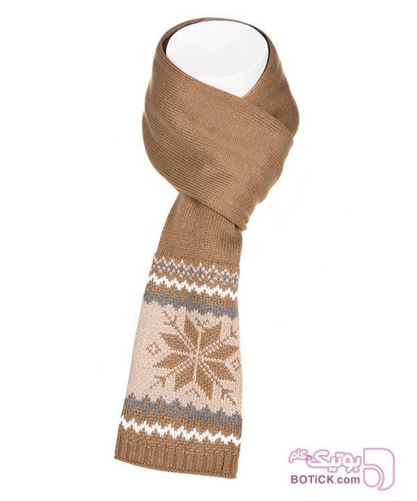 شال گردن زنانه بافتنی جوتی جینز Jooti Jeans کرم کلاه بافت و شال گردن و دستکش