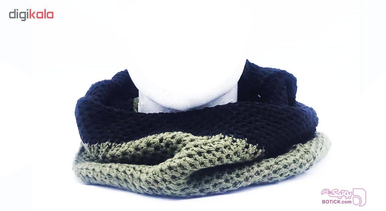 شال گردن عسگری مدل BHL50 مشکی کلاه بافت و شال گردن و دستکش