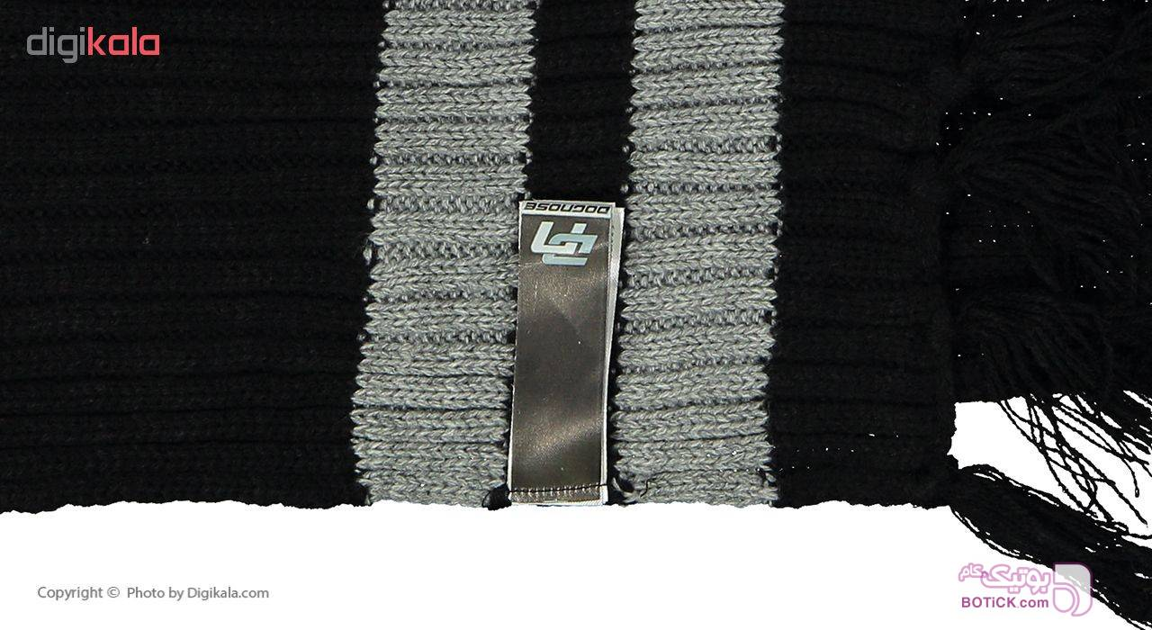 شال  گردن بافتنی مدل HG769 مشکی کلاه بافت و شال گردن و دستکش