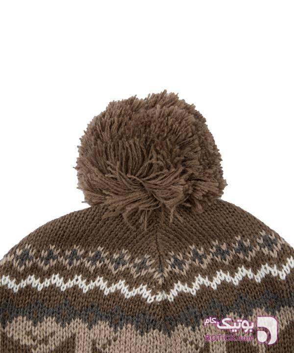کلاه بافتنی زنانه جوتی جینز Jooti Jeans قهوه ای کلاه بافت و شال گردن و دستکش