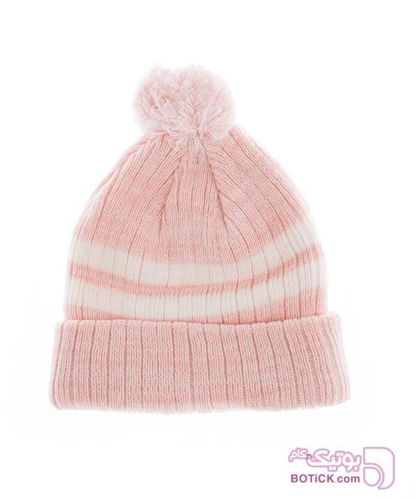 کلاه زنانه جوتی جینز صورتی کلاه بافت و شال گردن و دستکش