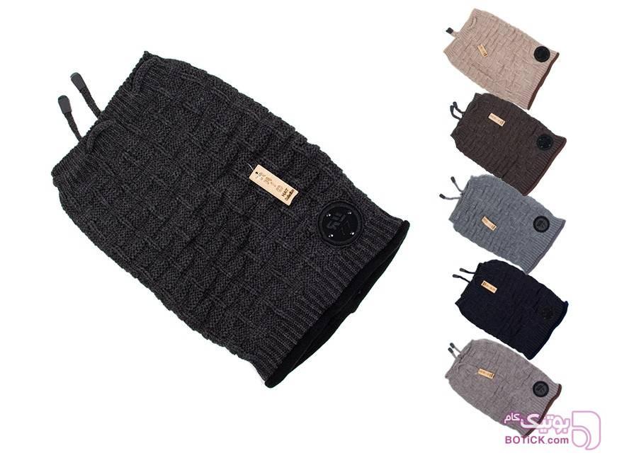 کلاه بافت زمستانی ARIO کرم کلاه و اسکارف