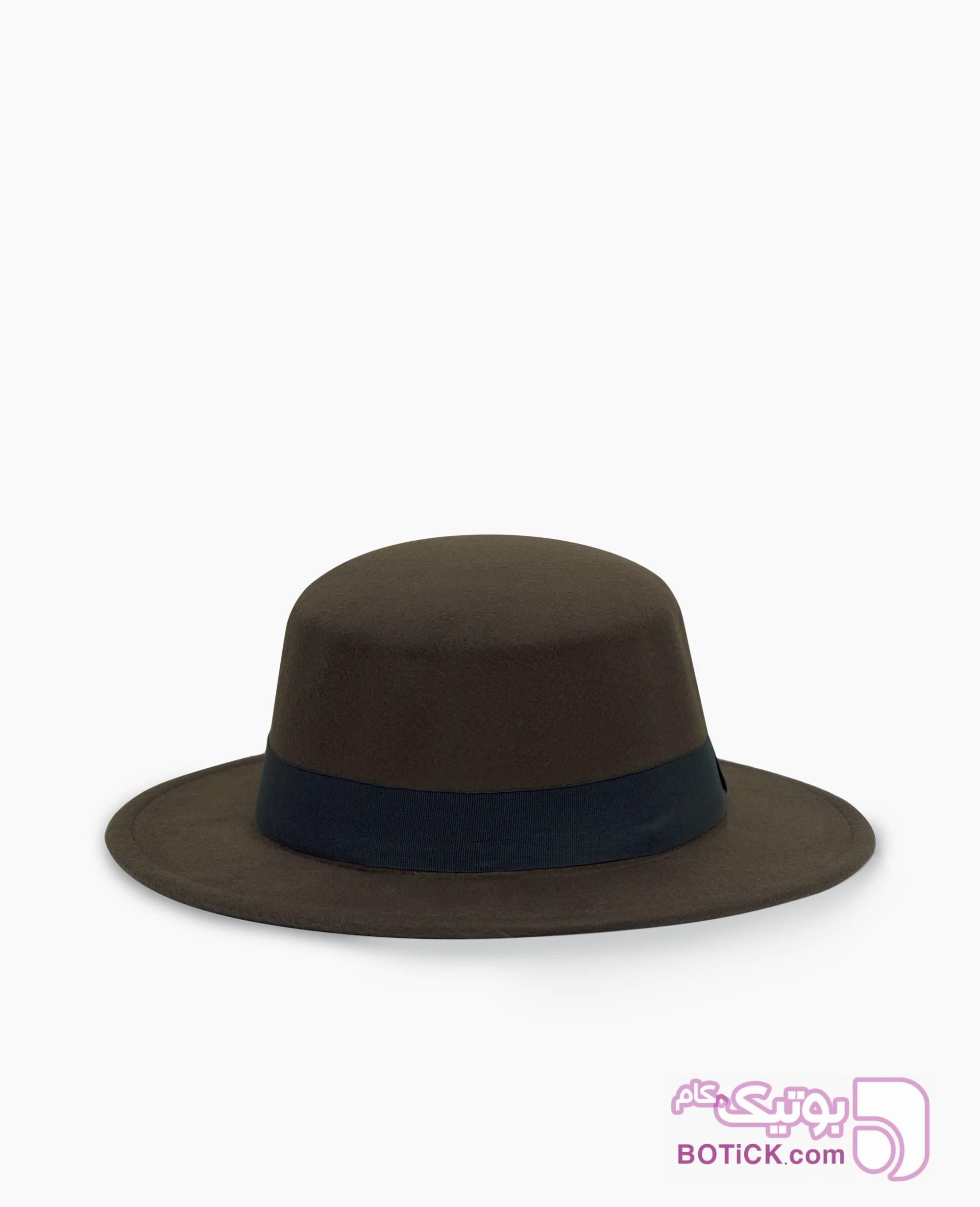 کلاه FEDORA کد 9547 سورمه ای کلاه و اسکارف