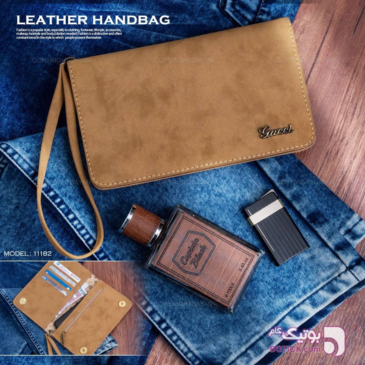 کیف زنانه چرمی گوچی طلایی كيف زنانه