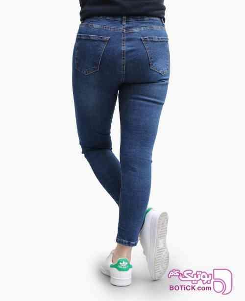 شلوار جین زنانه ZARA کد 8455 سورمه ای 98 2019