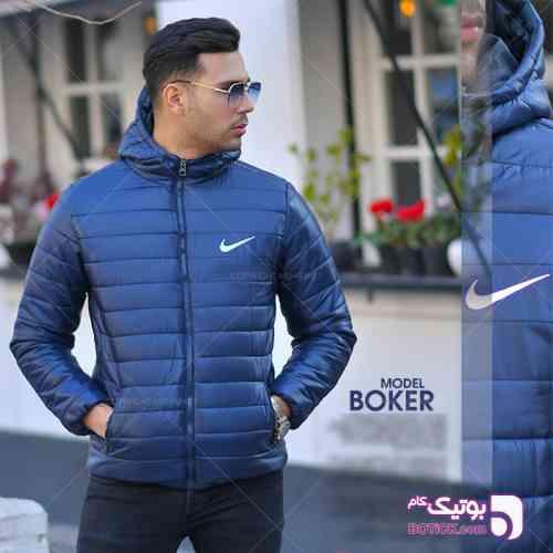 كاپشن مردانه NIKE مدل BOKER سورمه ای 98 2019