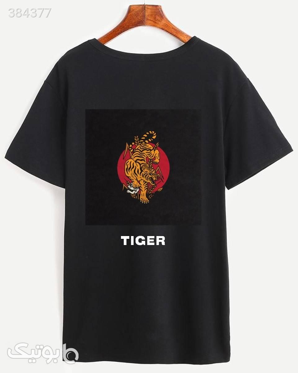 تیشرت tiger مشکی تی شرتو پولو شرت مردانه