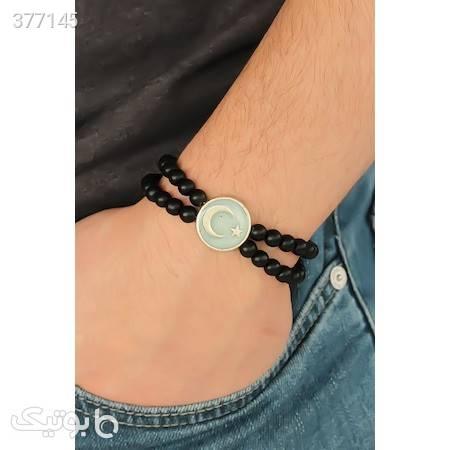 خرید پستی دستبند مردانه برند bu-farkli از ترکیه مشکی دستبند و پابند