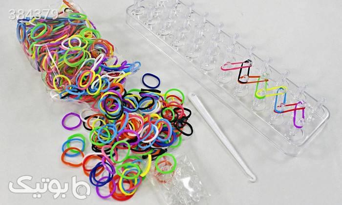 دستبند فانی بافت 2عددی Loom Bands سبز دستبند و پابند