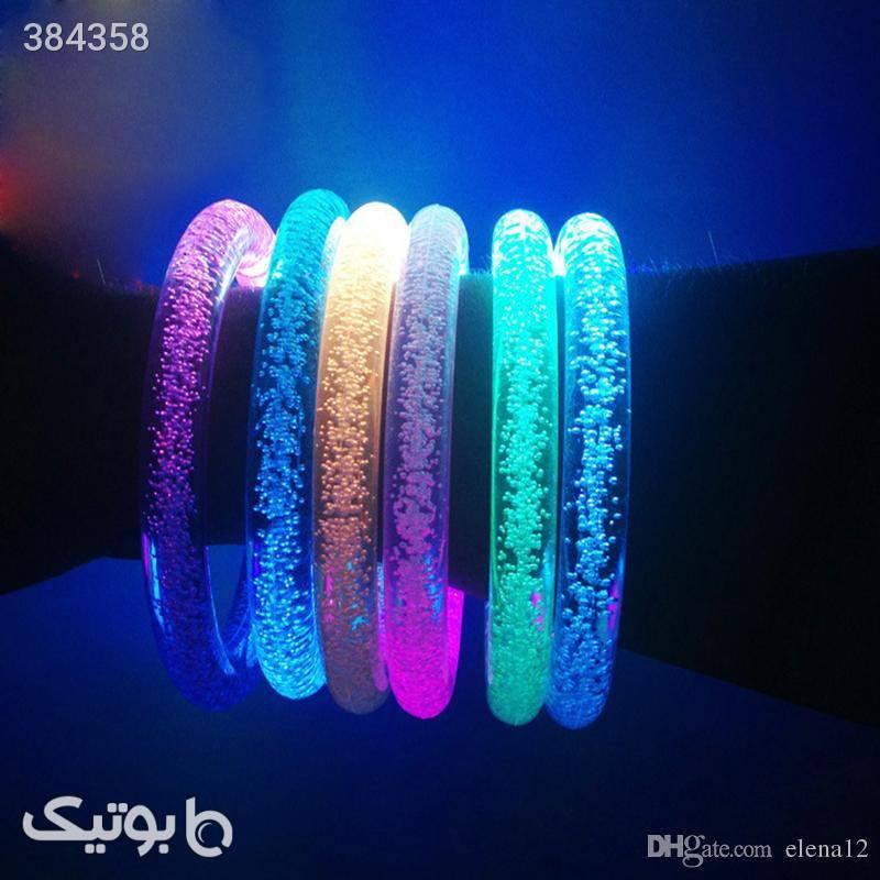 دستبند چراغدار حبابدار LEDشفاف 2عددی سبز دستبند و پابند