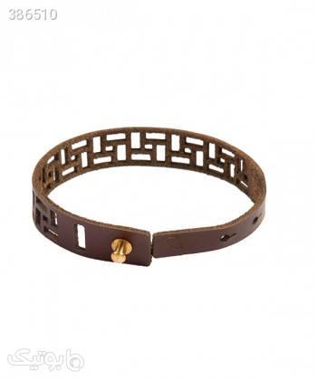 دستبند چرم طبیعی دایس Dice کد 003 زرشکی دستبند و پابند