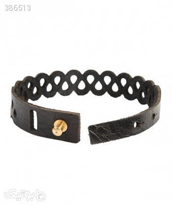 دستبند چرم طبیعی دایس Dice کد 004 مشکی دستبند و پابند