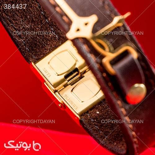 دستبند چرم طرح طهران زرد دستبند و پابند