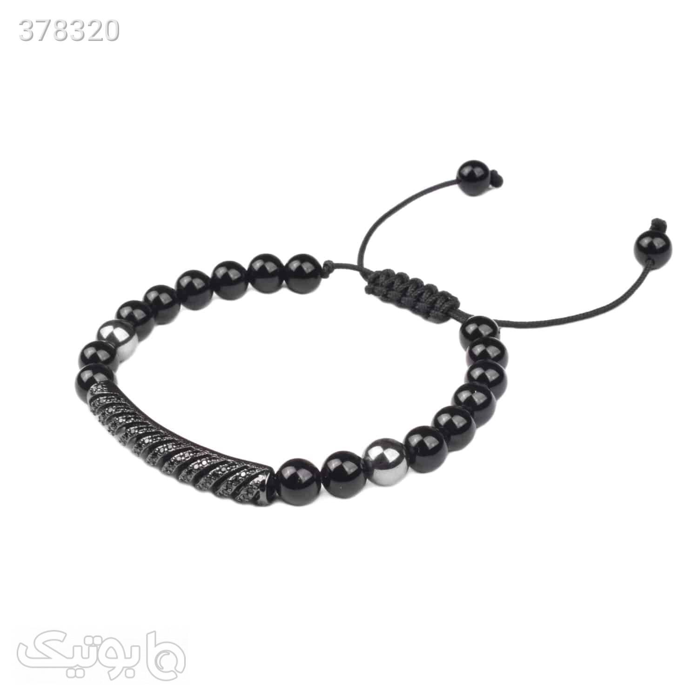دستبند استیل | سنگ اونیکس | LM218  مشکی دستبند و پابند