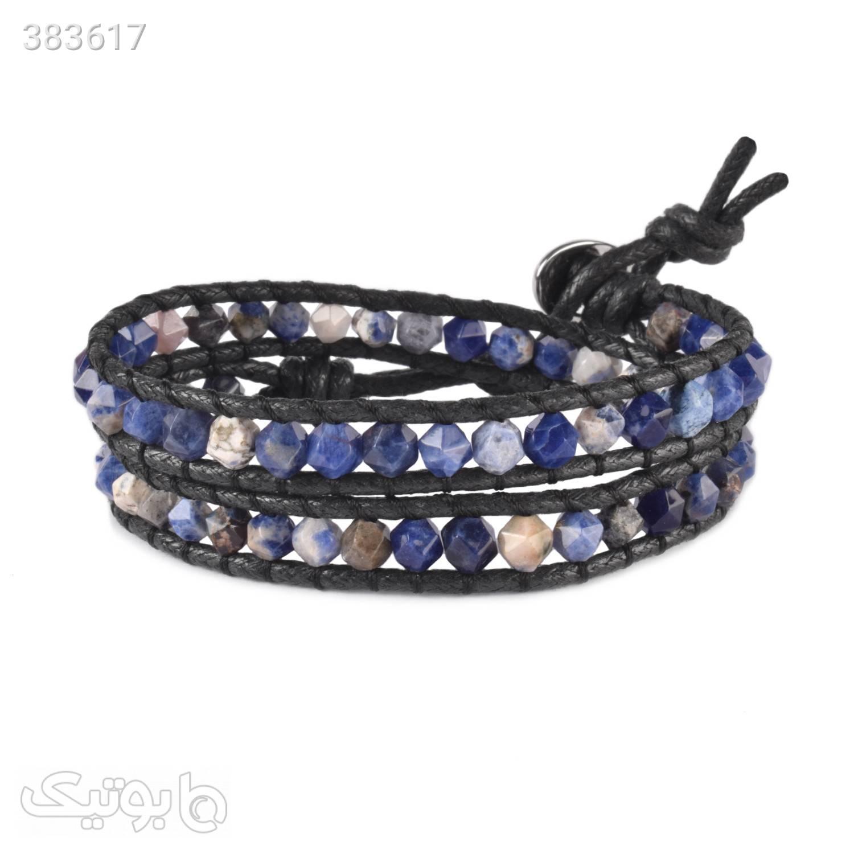 دستبند دورپیچ سنگ سودالیت | WO11  آبی دستبند و پابند