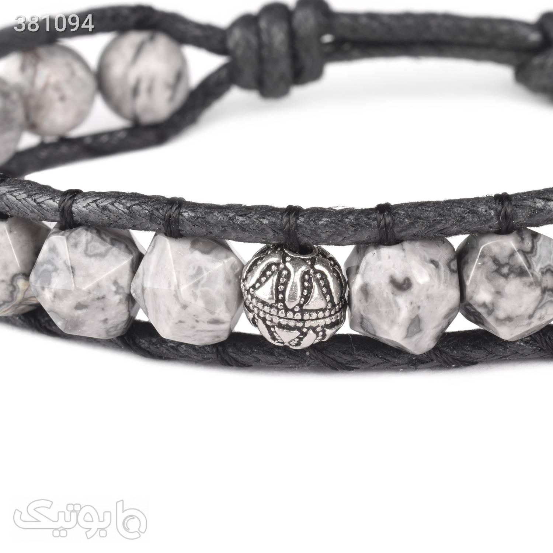 دستبند سنگ جاسپر | نقره | WO1  طوسی دستبند و پابند
