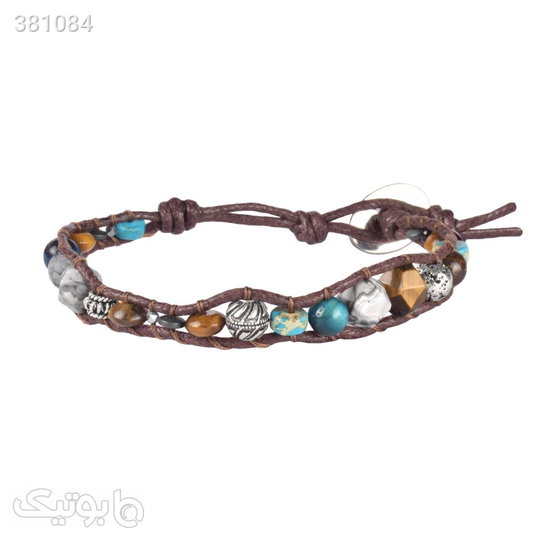 دستبند سنگ چشم ببر | فیروزه | نقره | WO5  دستبند و پابند