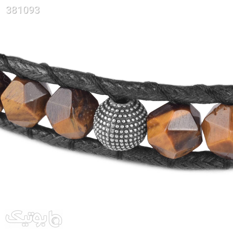 دستبند سنگ چشم ببر | نقره | WO2  قهوه ای دستبند و پابند