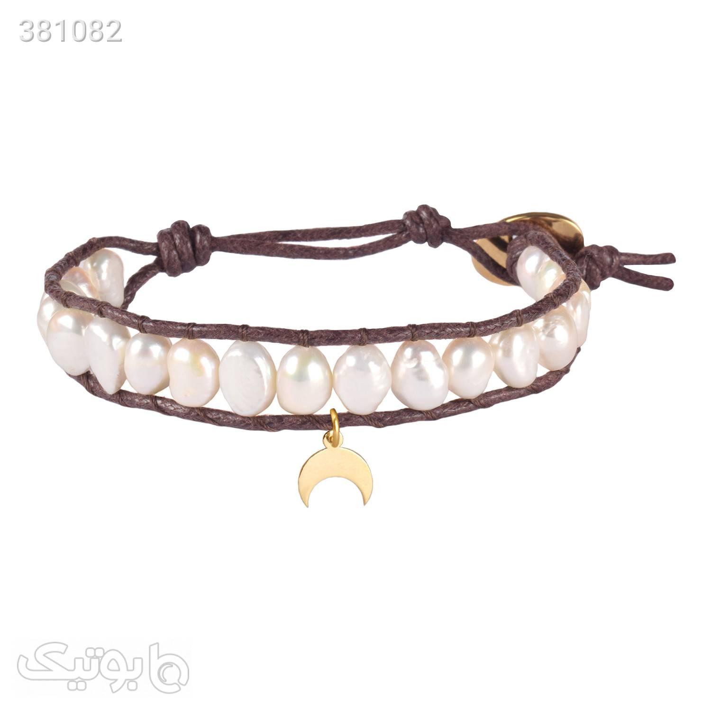 دستبند طلا   مروارید   WO7  قهوه ای دستبند و پابند