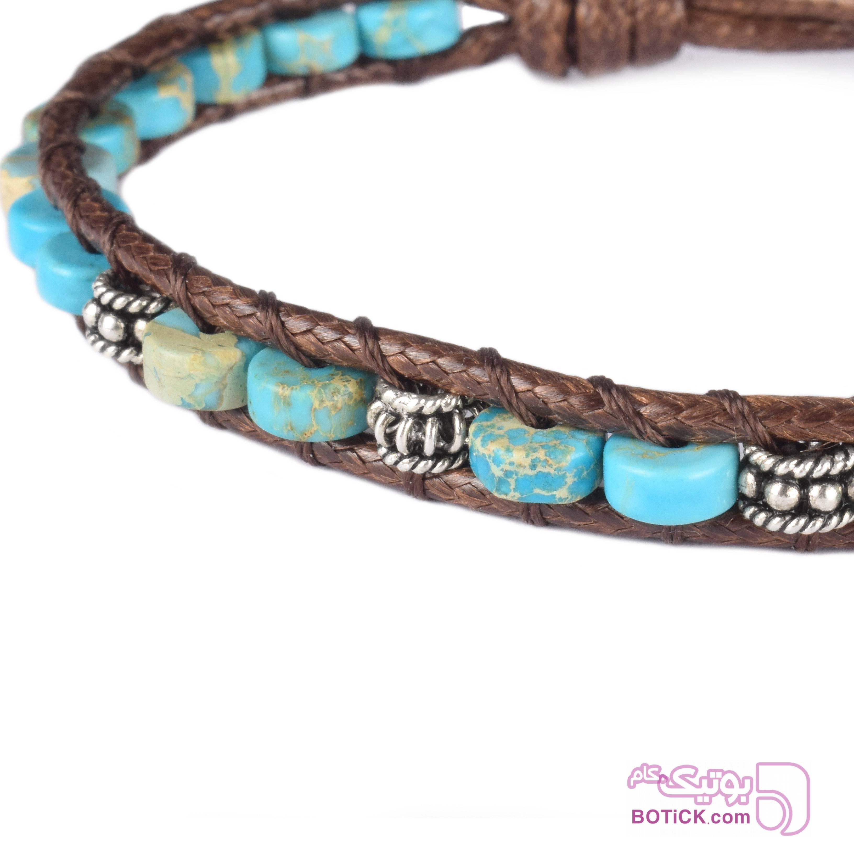 دستبند فیروزه | نقره | WO6  فیروزه ای دستبند و پابند