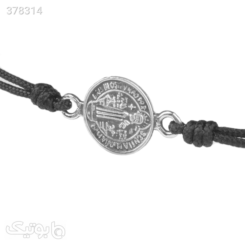 دستبند نقره بافت مکرمه | MC5  مشکی دستبند و پابند