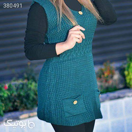 سارافون بافت رونیکا سبز رویه و بافت