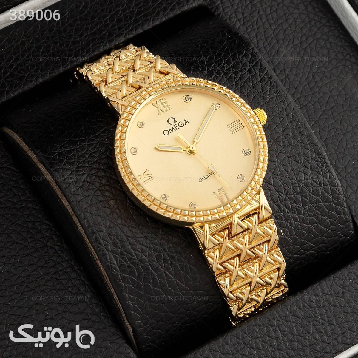 ساعت مچی زنانه omega زرد ساعت