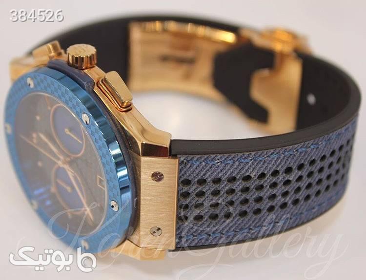 ساعت مچی مردانه هابلوت آبی ساعت