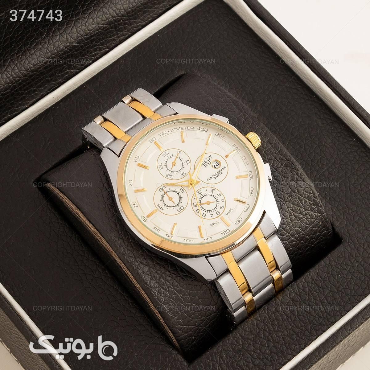 ساعت مچی مردانه Tissot مدل 12069 زرد ساعت