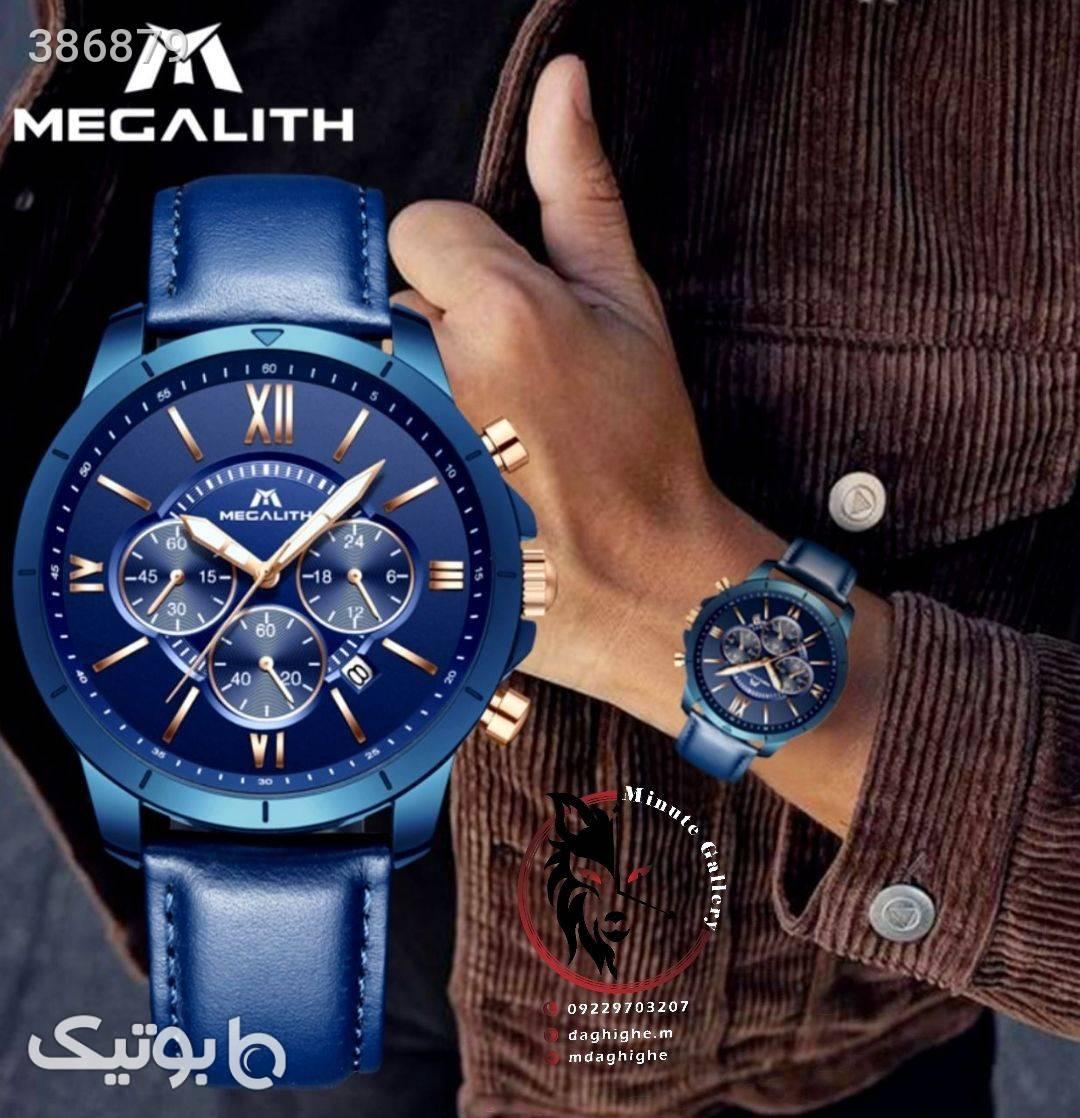 ساعت مچی MEGALITH  آبی ساعت