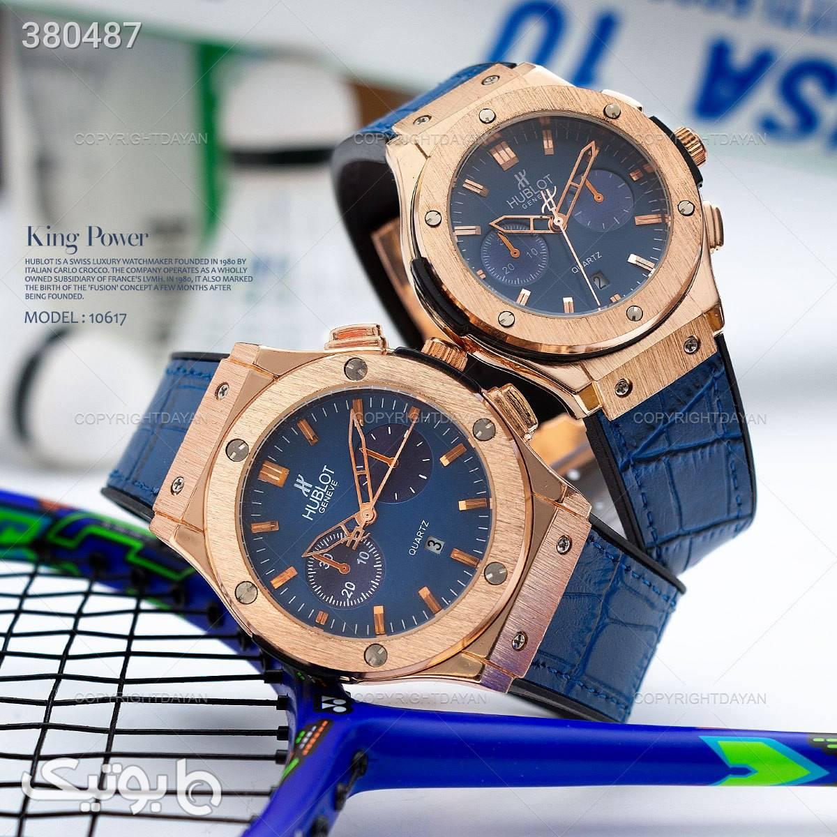 ست ساعت مردانه و زنانه هابلوت آبی ساعت