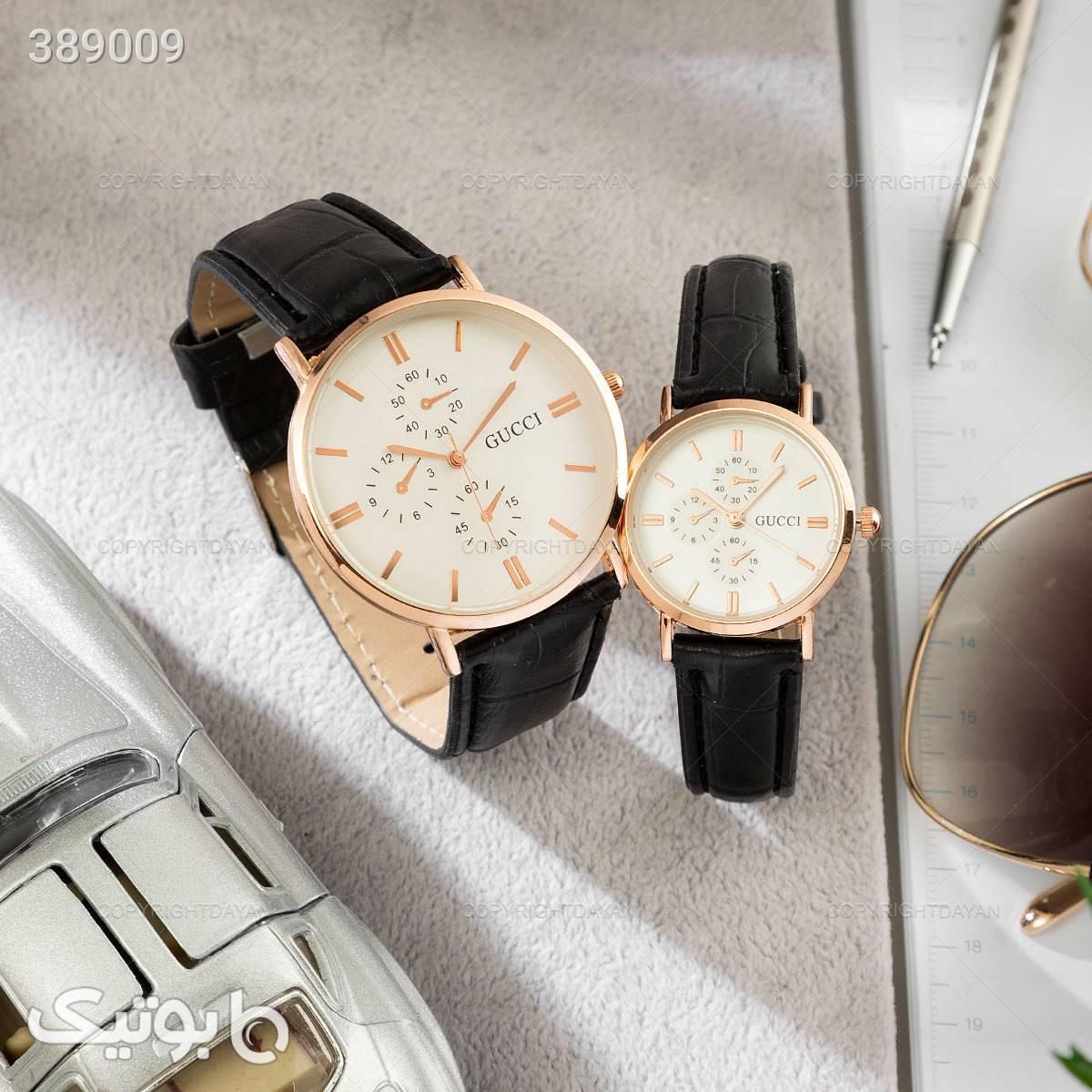 ست ساعت مردانه و زنانه گوچی مشکی ساعت