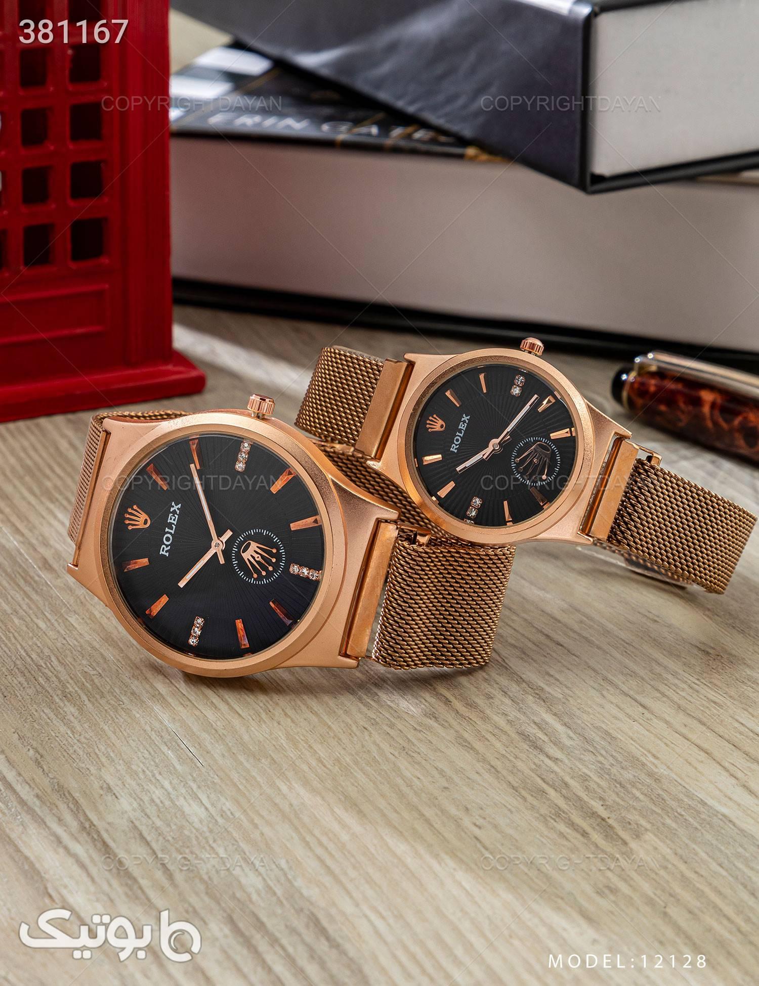 ست ساعت مچی Rolex مدل  12128 طلایی ساعت