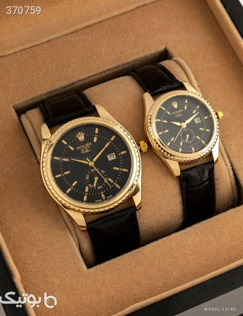 ست ساعت مچی Rolex مدل 12105 زرد ساعت