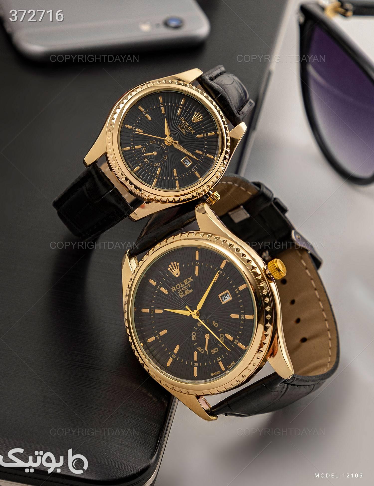 ست ساعت مچی Rolex مدل 12105 طلایی ساعت