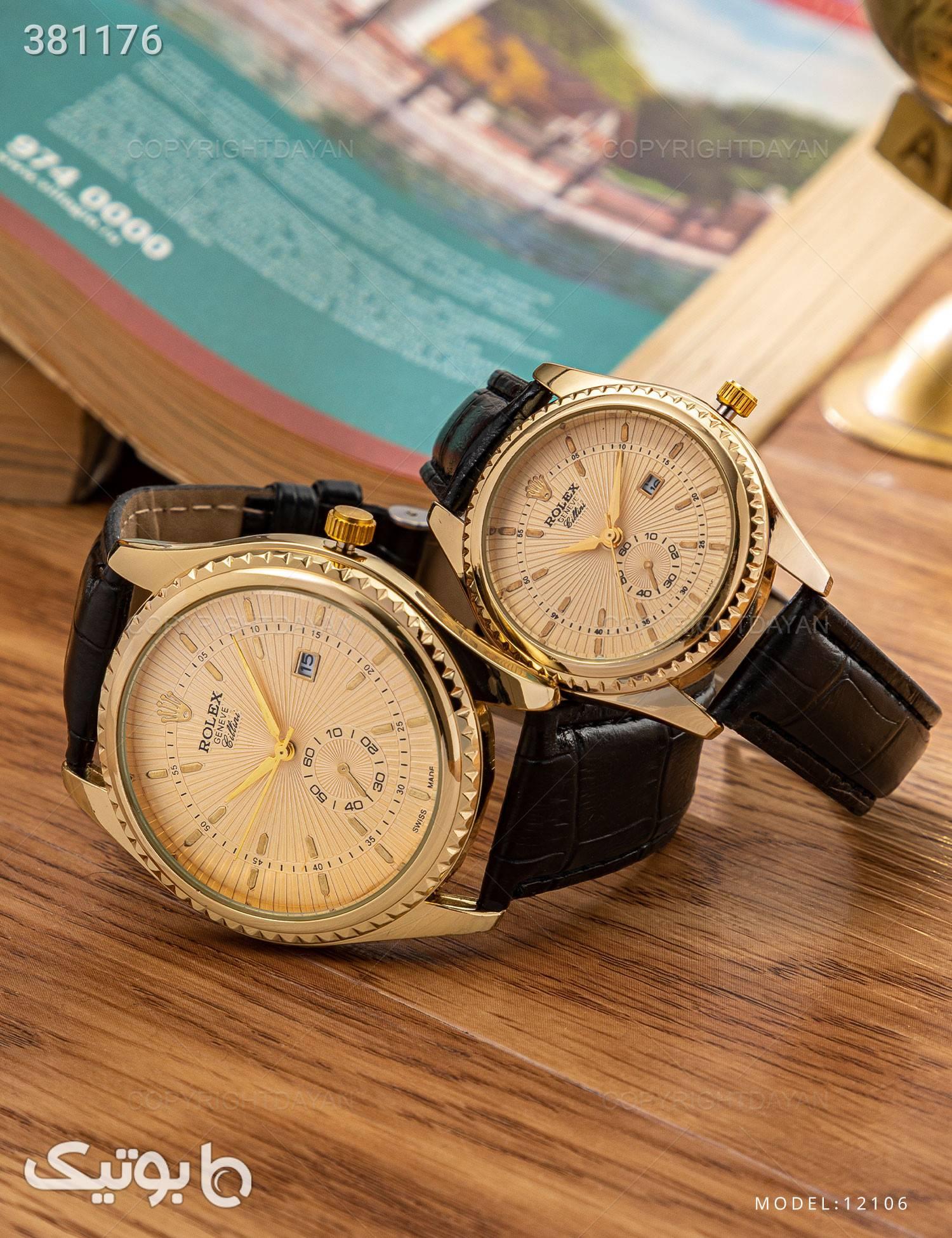 ست ساعت مچی Rolex مدل 12106 طلایی ساعت