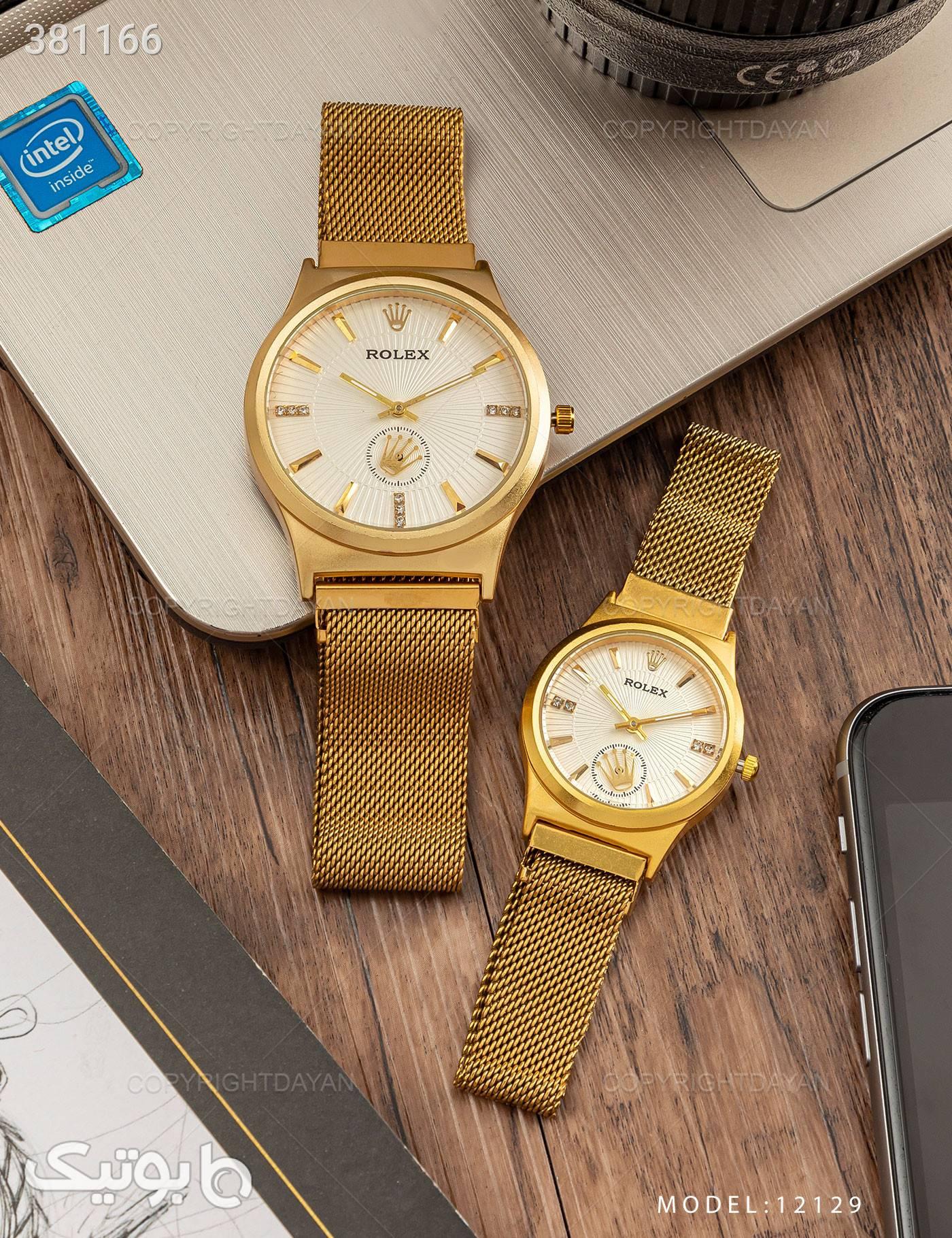 ست ساعت مچی Rolex مدل 12129 طلایی ساعت